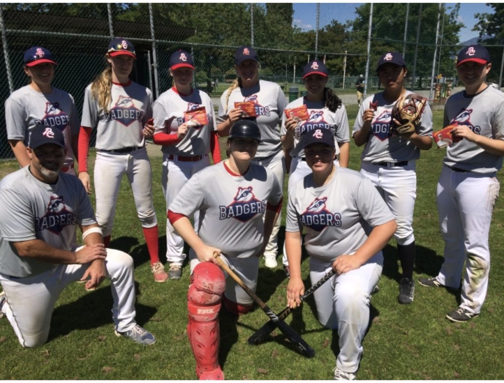 BC Badgers first Canadian woman all womans baseball team in mens league in LMBA